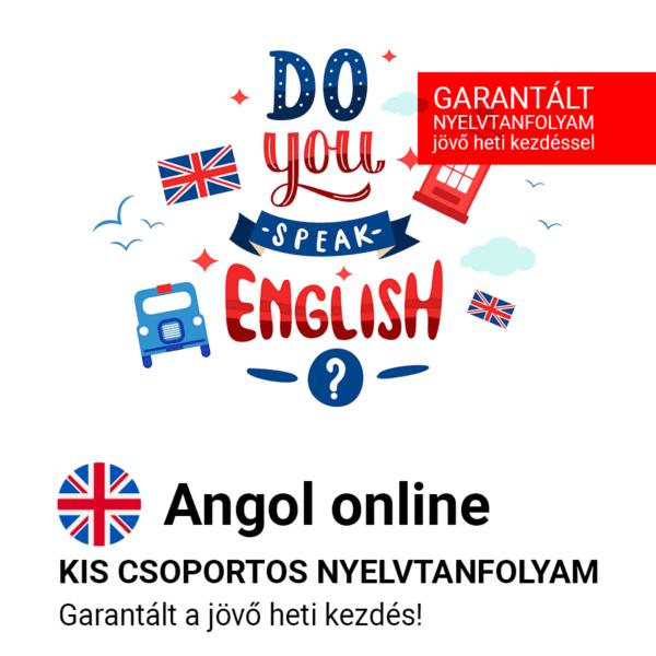 Angol online garantált csoportos nyelvtanfolyam