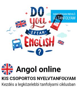 Angol online új csoportos nyelvtanfolyam