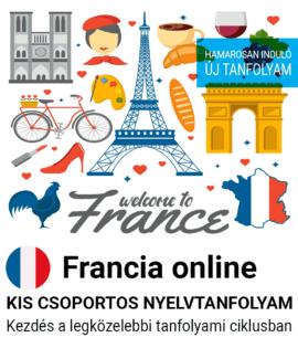 Francia online új csoportos nyelvtanfolyam