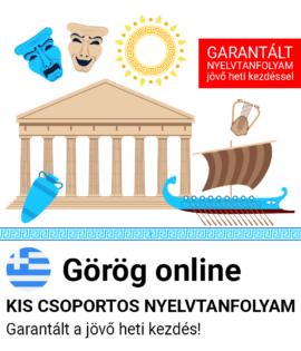 Görög online csoportos tanfolyam