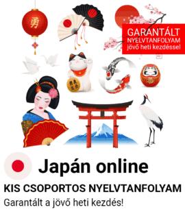 Japán online csoportos tanfolyam