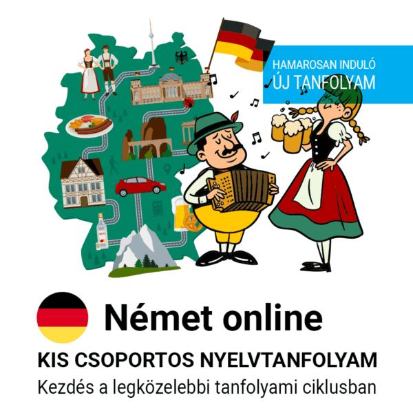 Német online új csoportos nyelvtanfolyam