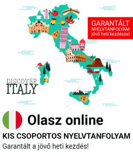 Olasz online garantált csoportos nyelvtanfolyam
