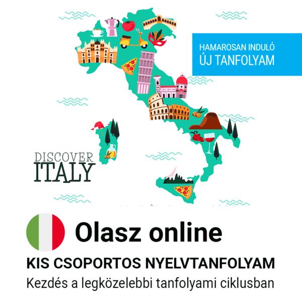 Olasz online új csoportos nyelvtanfolyam