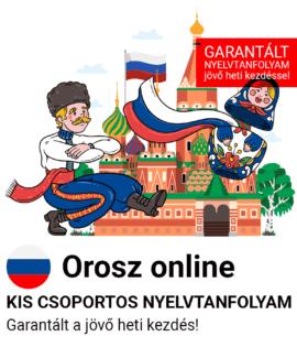 Orosz online garantált csoportos nyelvtanfolyam