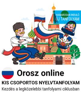 Orosz online új csoportos nyelvtanfolyam