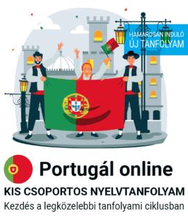 Portugál online új csoportos nyelvtanfolyam
