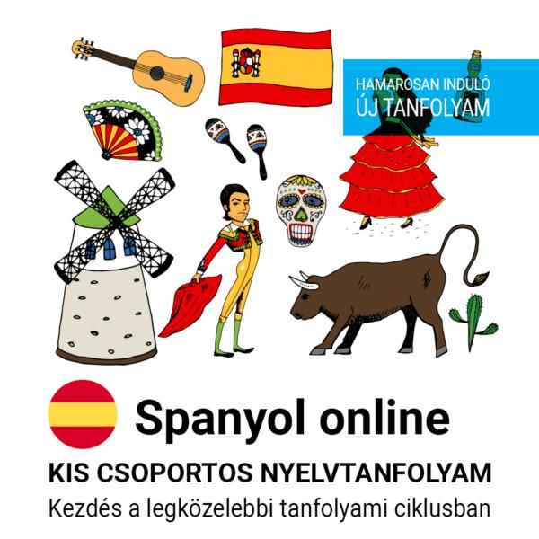 Spanyol online új csoportos nyelvtanfolyam