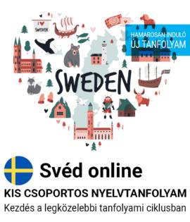 Svéd online új csoportos nyelvtanfolyam